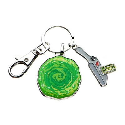 Rick and Morty Portal Gun Keychain