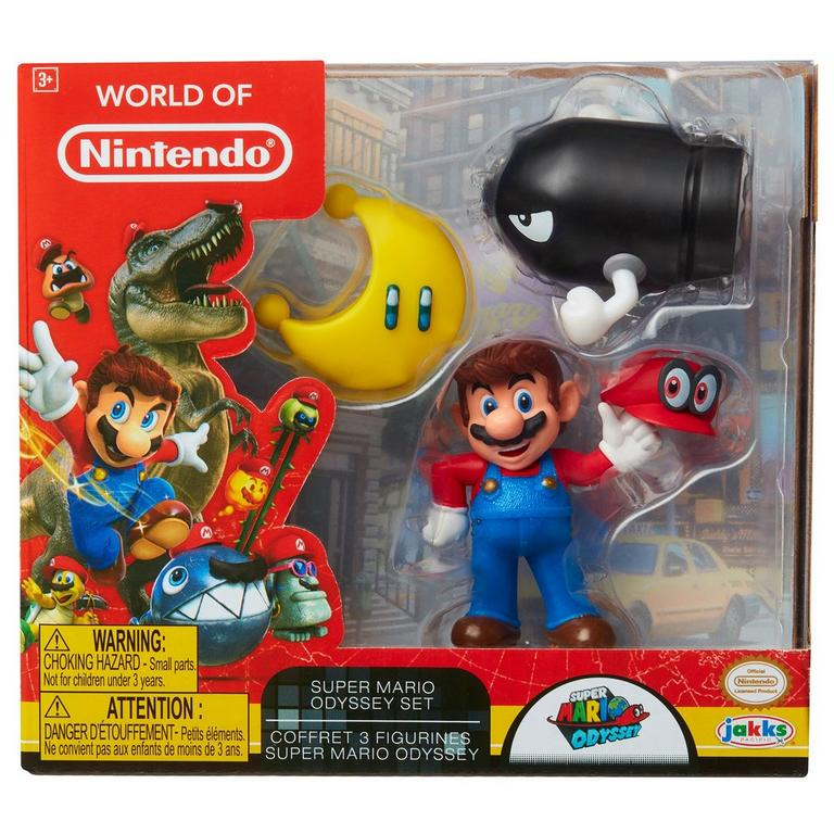 3 Pack Mario Odyssey Action Figures - Only at GameStop