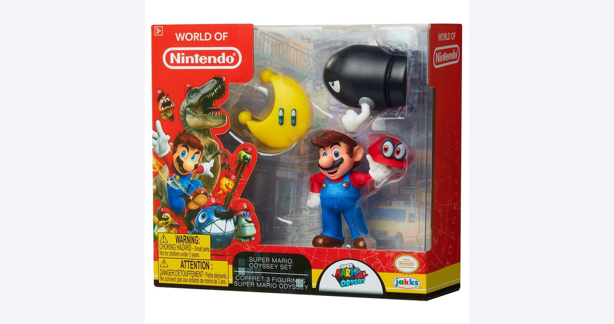 Super Mario Odyssey World of Nintendo Action Figure 3 Pack Only at GameStop