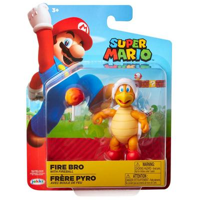 Super Mario Bros. Fire Bro with Fireball Figure