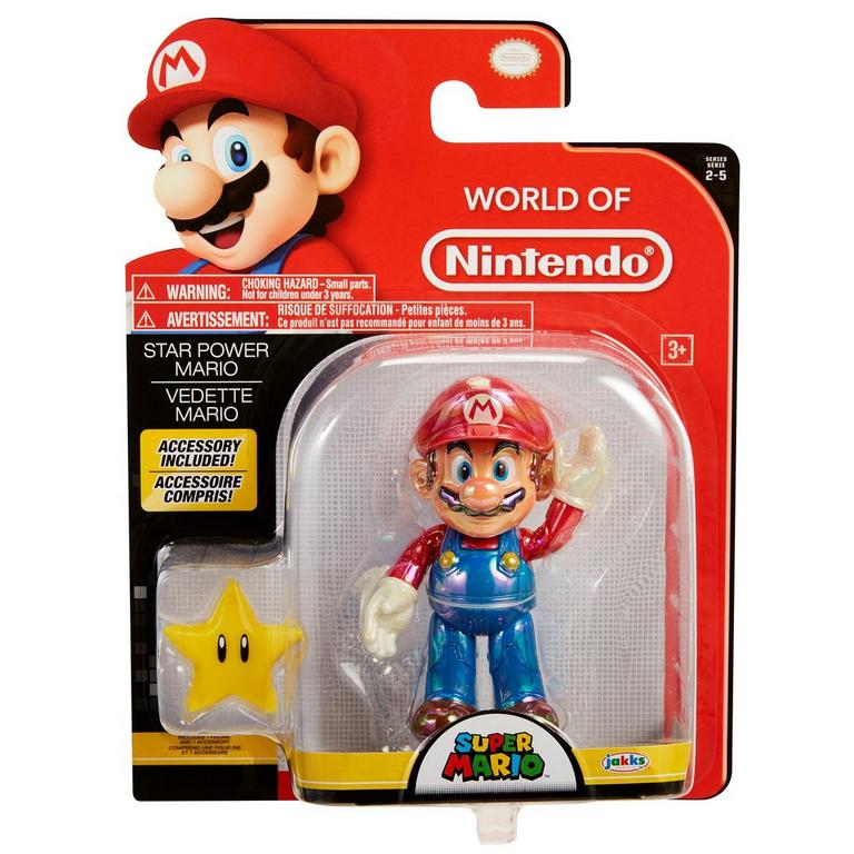 Super Mario Classic with Super Star Action Figure