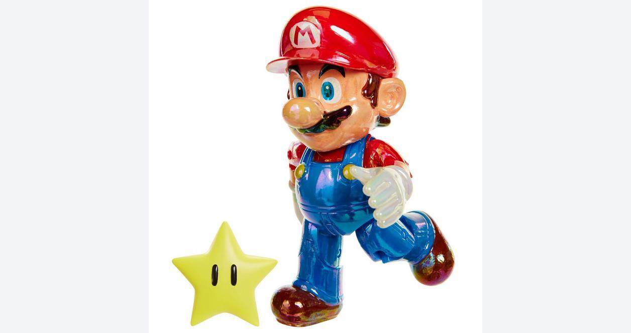 Super Mario Bros. Star Power Mario with Super Star Action Figure