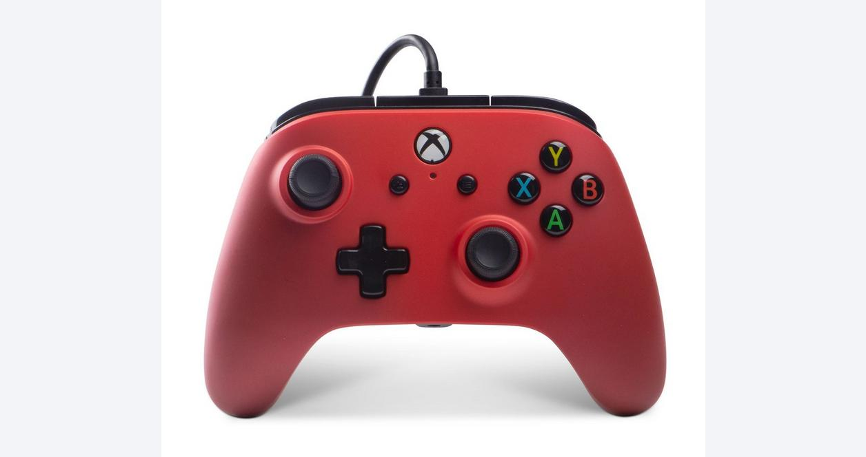 Xbox One White Enhanced Wired Controller
