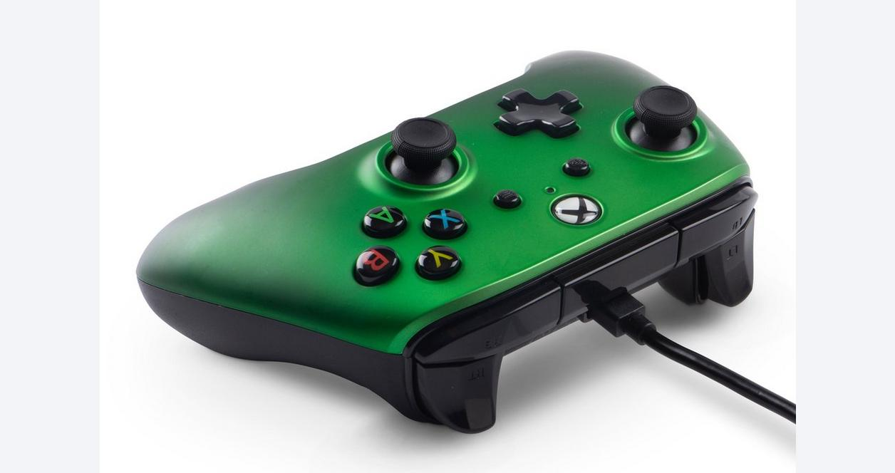 Xbox One Emerald Fade Enhanced Wired Controller Only at GameStop
