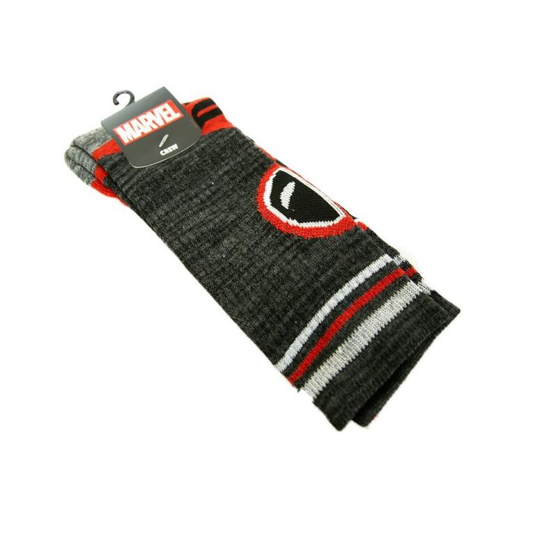 Deadpool Logo Striped Socks