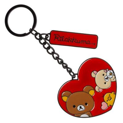 Rilakkuma Heart Keychain