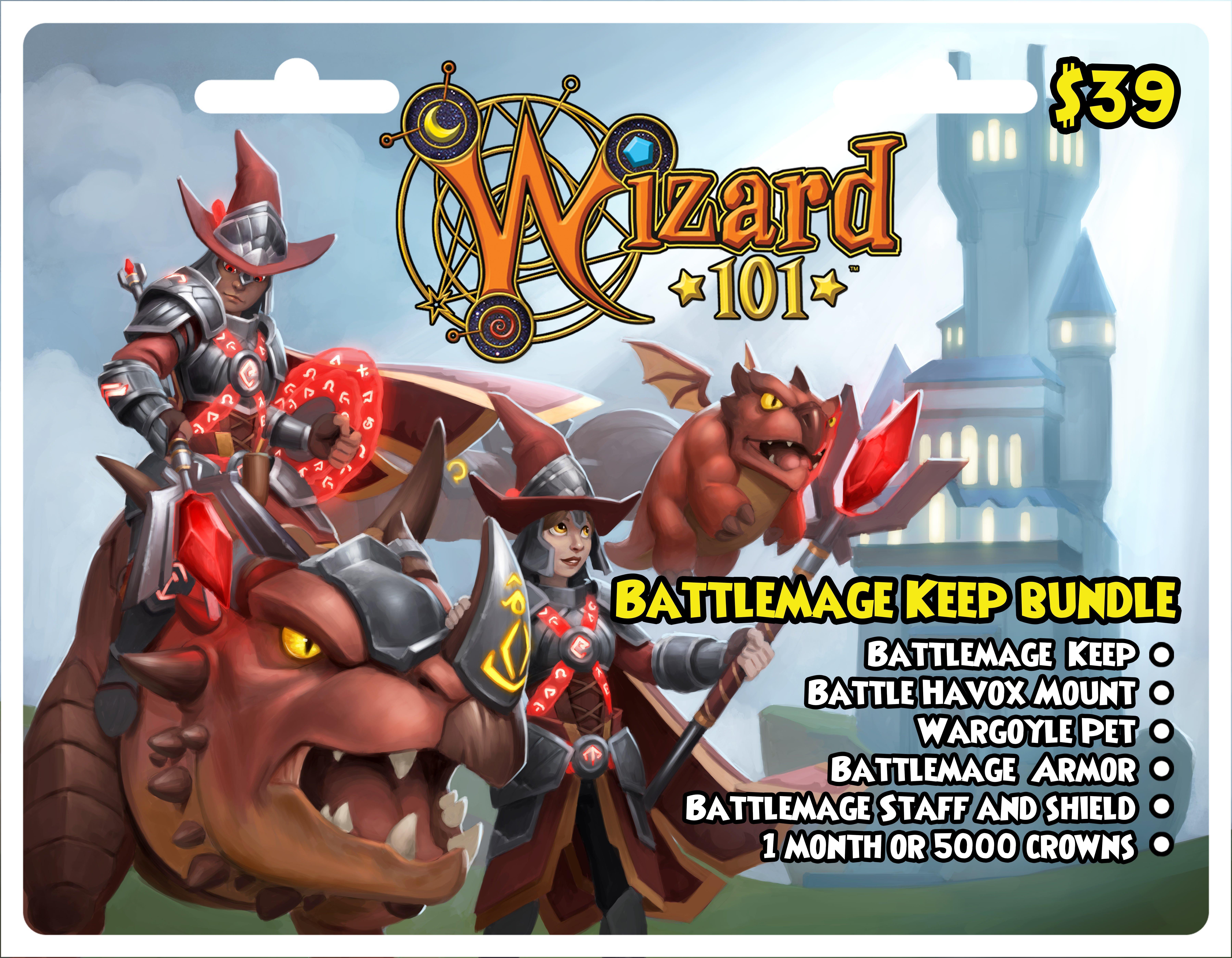 Wizard 101 Battlemage Keep Bundle Digital Card Pc Gamestop