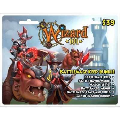 Wizard 101 Battlemage Keep Bundle Digital Card