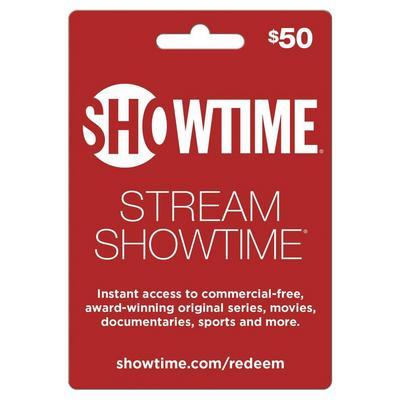 Showtime $50 eCard