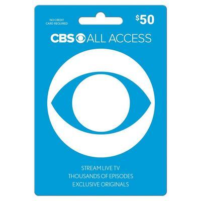 CBS All Access $50 eCard