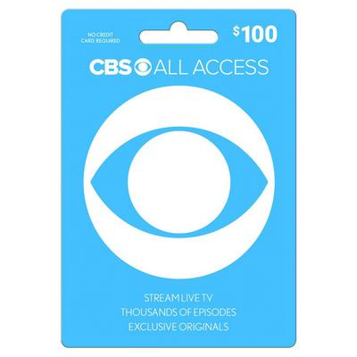 CBS All Access $100 eCard