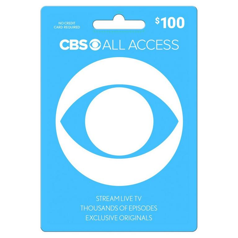 InComm Digital CBS All Access $100 eCard Download Now At GameStop.com!