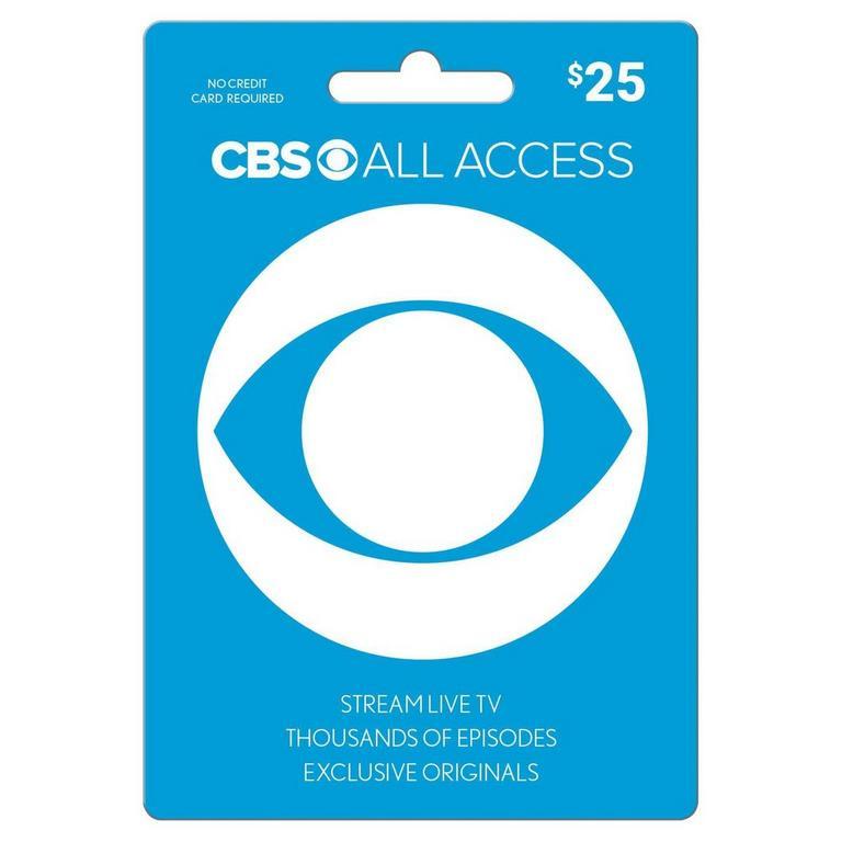 InComm Digital CBS All Access $25 eCard Download Now At GameStop.com!