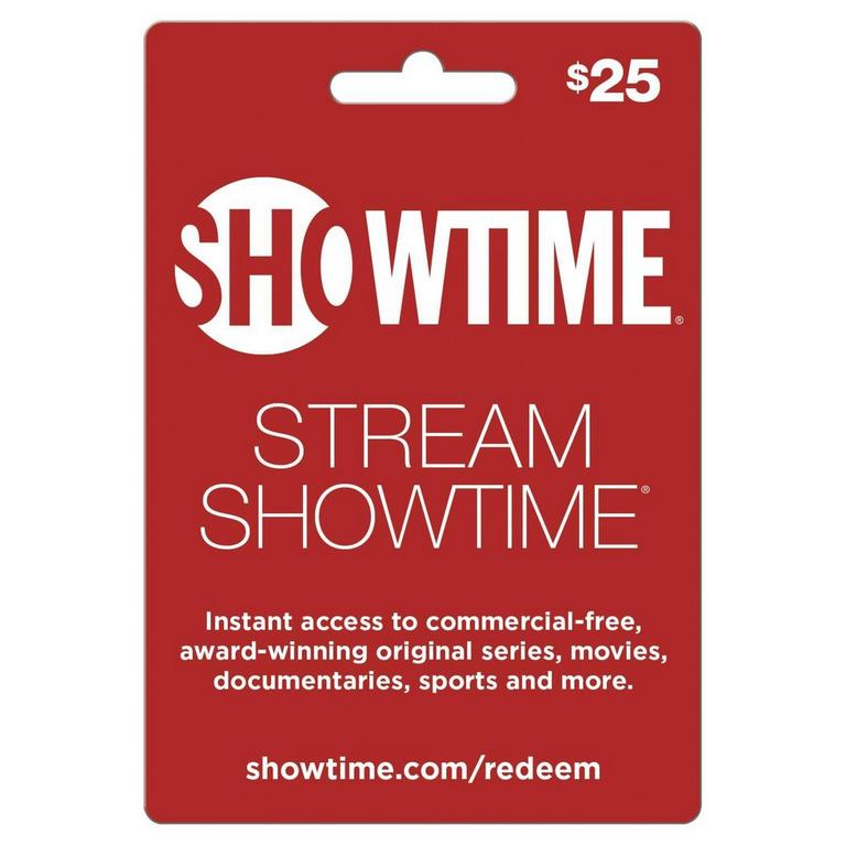 InComm Digital Showtime $25 eCard Download Now At GameStop.com!