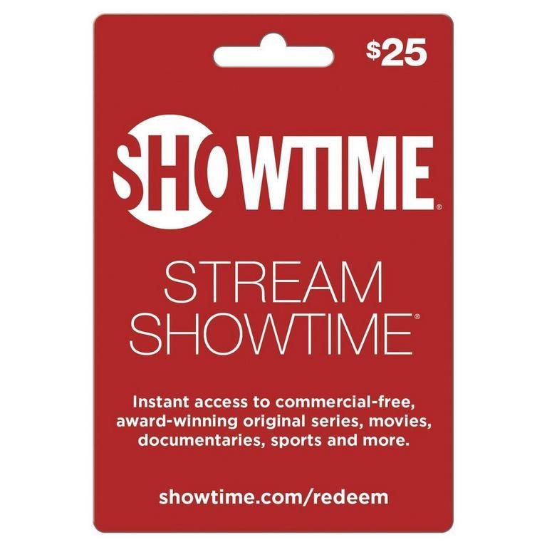 InComm Digital Showtime $25 eCard Download Now At GameStop.com!