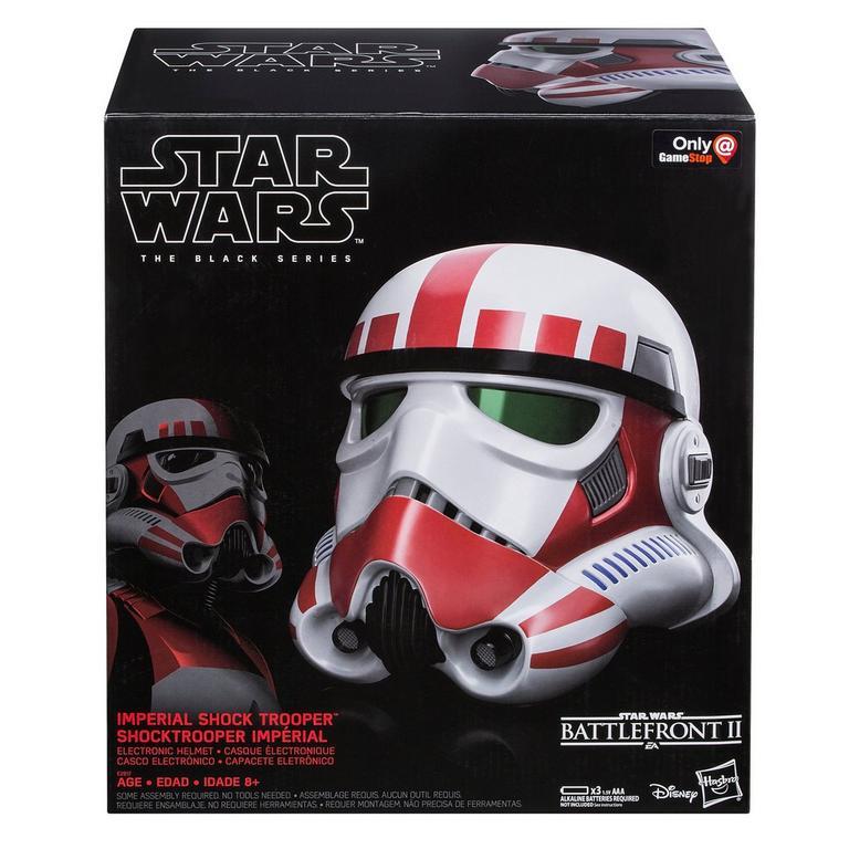 Star Wars Battlefront II Imperial Shock Trooper The Black Series Electronic Helmet Only at GameStop