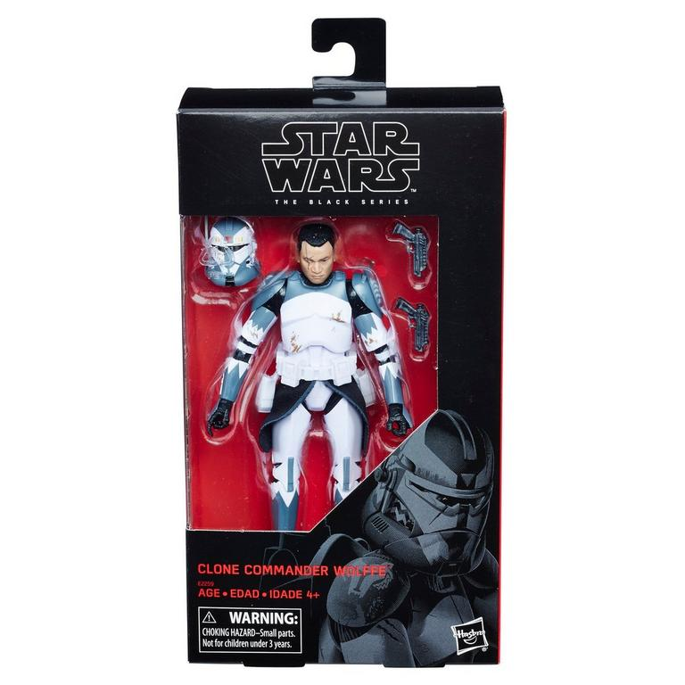 Star Wars: The Clone Wars Clone Commander Wolffe The Black Series Action Figure Only at GameStop