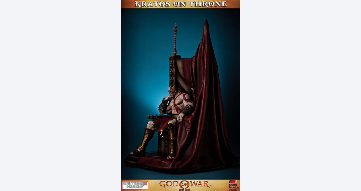 God of War Kratos On Throne 29 inch Statue
