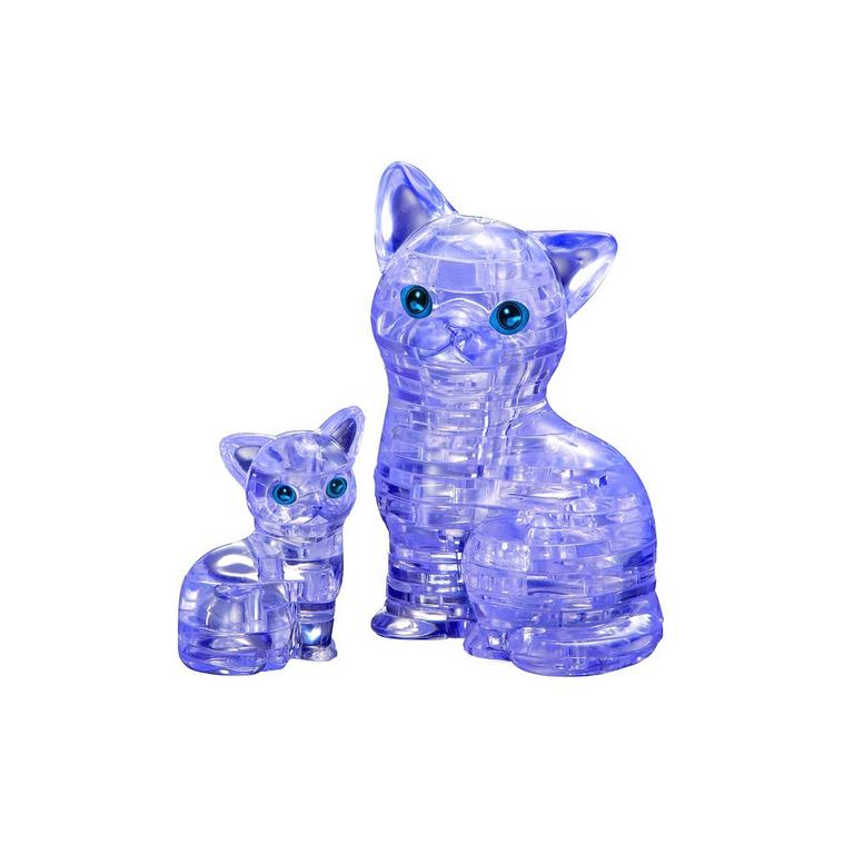 Crystal Cat and Kitten Puzzle