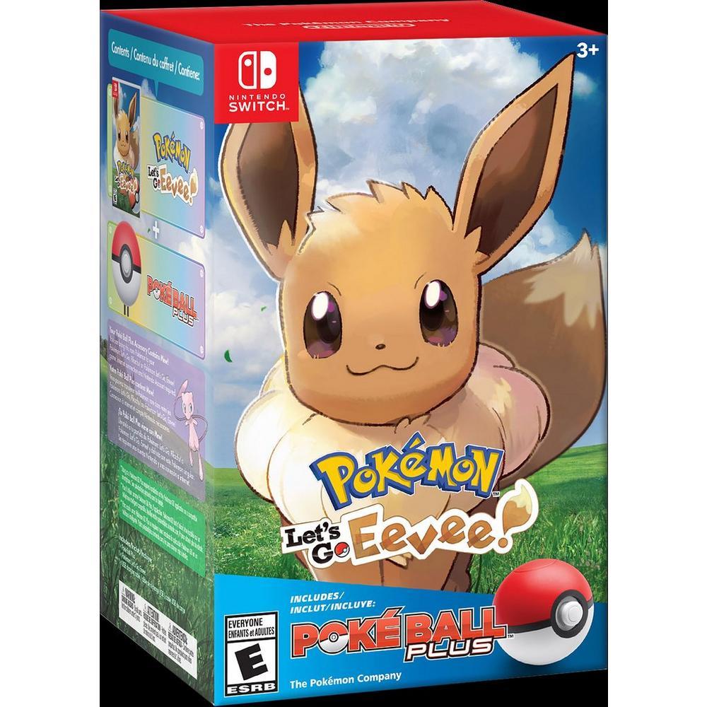 Pokemon: Let's Go Eevee! + Poke Ball Plus Pack | Nintendo Switch | GameStop