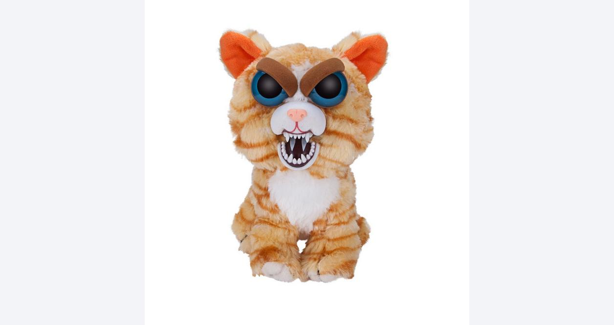Feisty Pets Orange Cat Plush