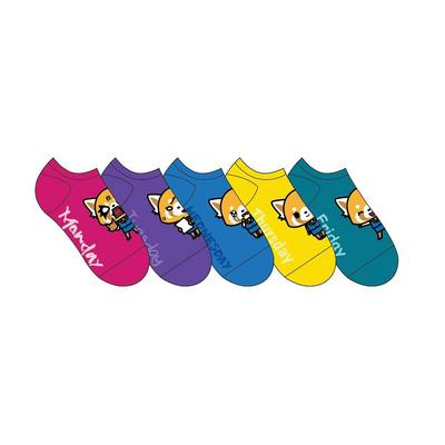 Aggretsuko Days Socks 5 Pack