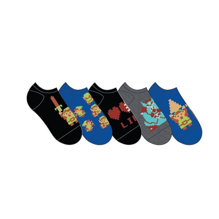 The Legend of Zelda 8bit Socks 5 Pair