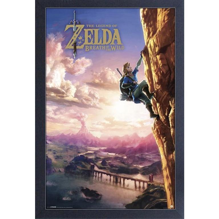 The Legend of Zelda: Breath of the Wild Mountain Climbing Art Print
