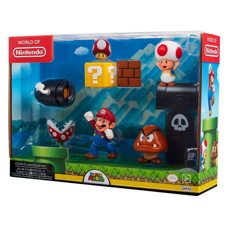 Super Mario World of Nintendo Acorn Plains Action Figures