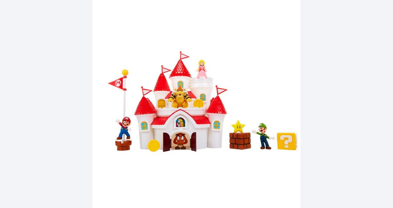 Super Mario Bros. Deluxe Mushroom Kingdom Castle Playset
