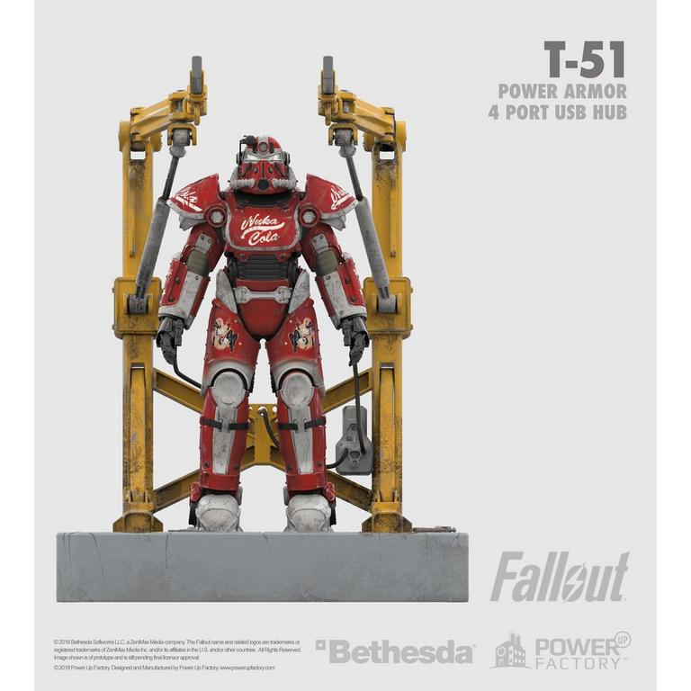 Fallout T-51 Nuka Cola 4 Port USB Charger