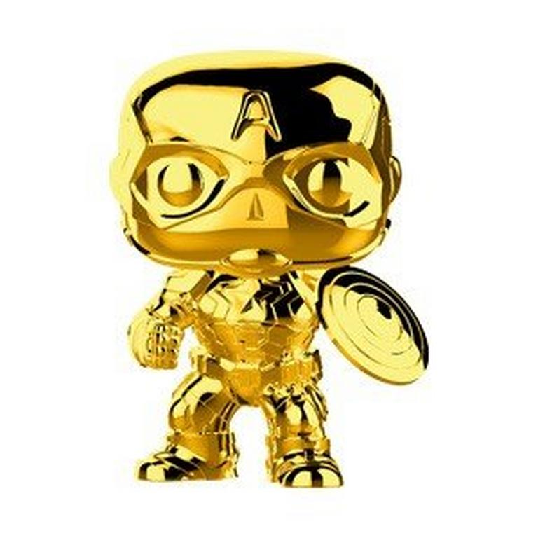 POP! Marvel: The First 10 Years - Captain America (Gold Chrome)