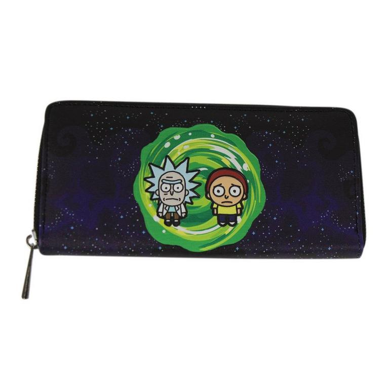 Rick and Morty Zippered Wallet