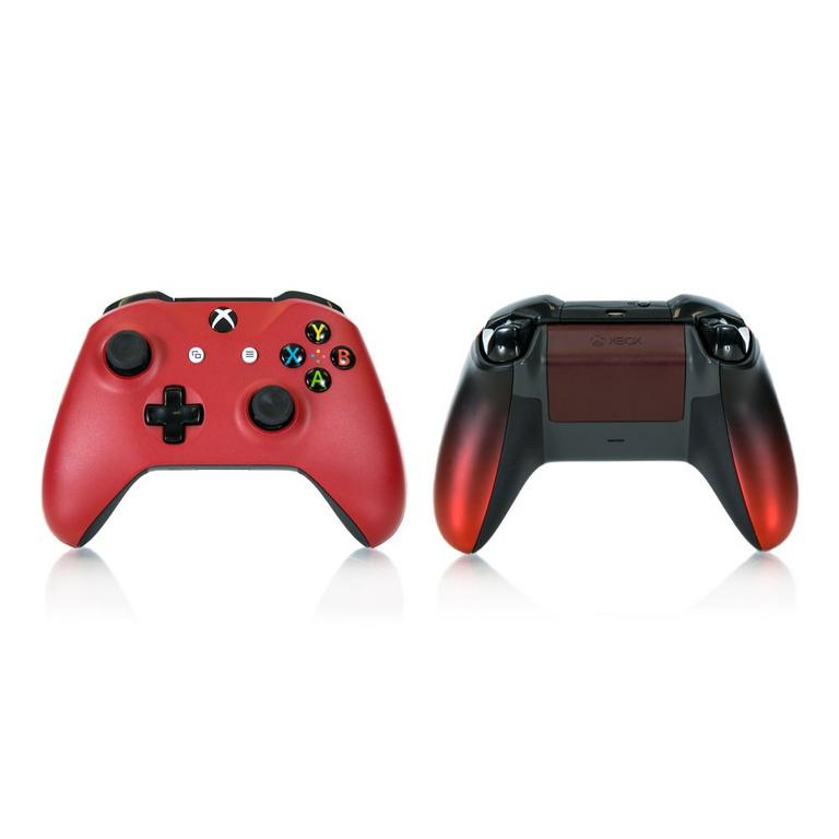 Microsoft Xbox One Wireless Controller Custom Red Gradient Recertified