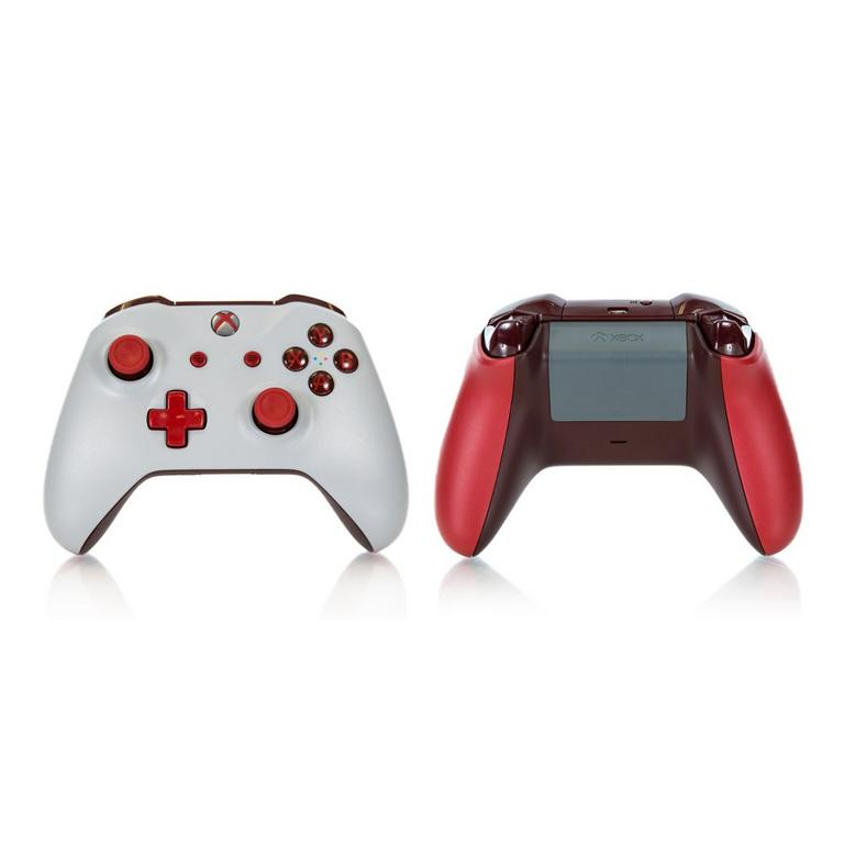 Xbox One White and Red Recertified Custom Controller