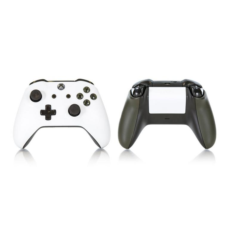 Xbox One White and Dark Green Recertified Custom Controller