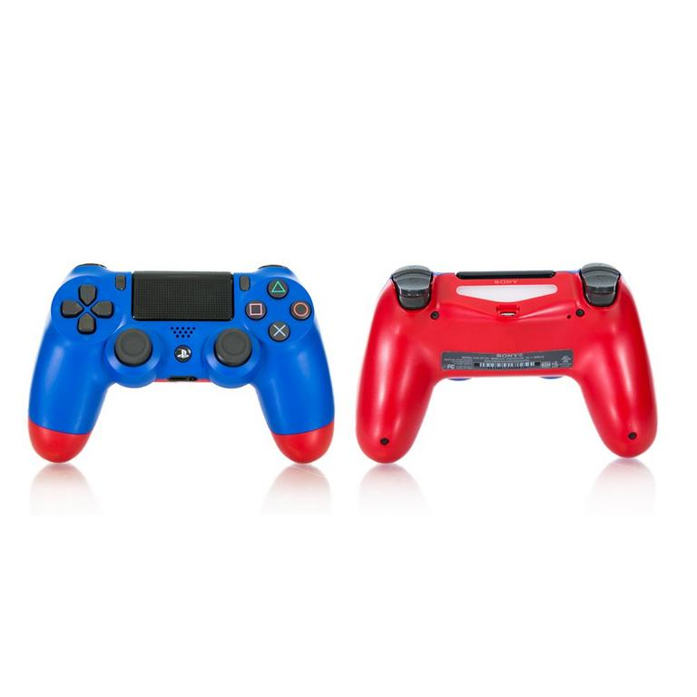 Sony DUALSHOCK 4 Blue and Red Recertified Custom Wireless Controller