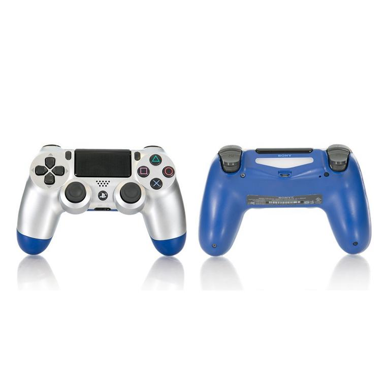 Sony DUALSHOCK 4 Silver and Blue Recertified Custom Wireless Controller