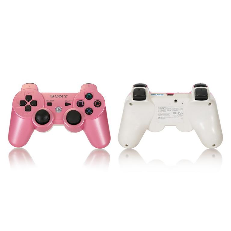 Sony DUALSHOCK 3 Pink and White Recertified Custom Wireless Controller