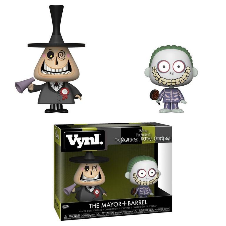 VYNL: The Nightmare Before Christmas The Mayor and Barrel 2 Pack
