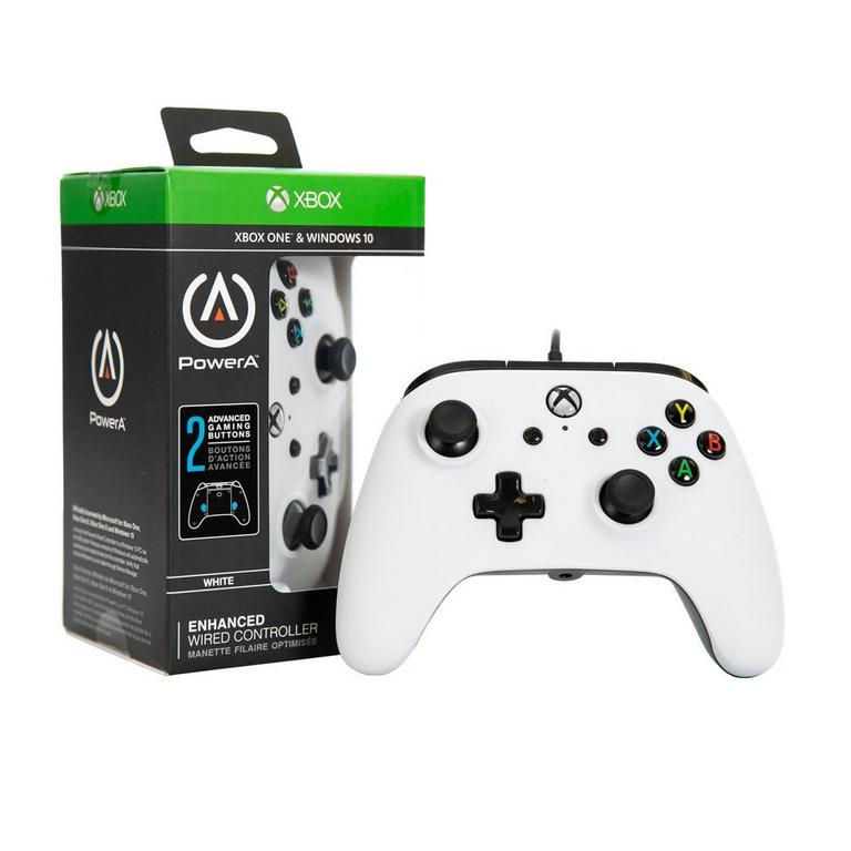White Enhanced Wired Controller for Xbox One