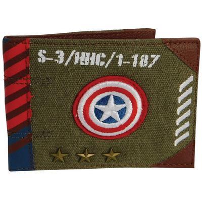 Captain America Vintage Army Bifold Wallet