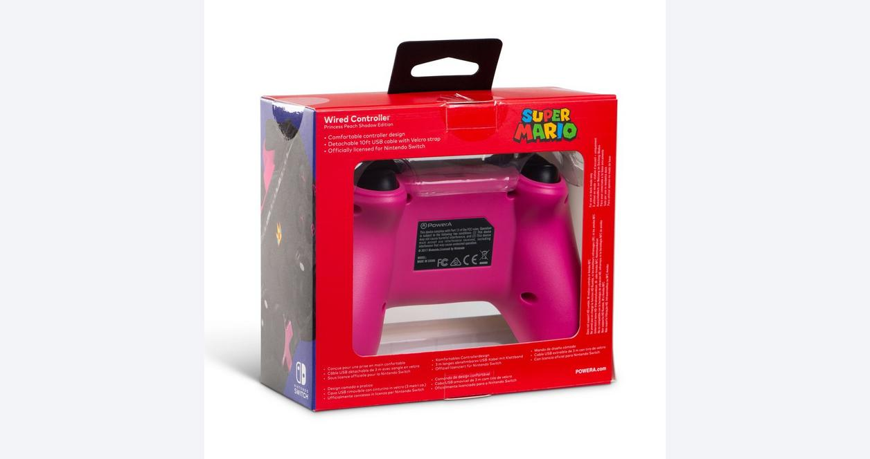 Nintendo Switch Princess Peach Shadow Wired Controller Only at GameStop