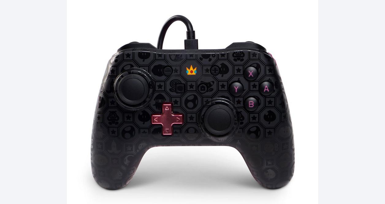 Super Mario Bros. Princess Peach Shadow Wired Controller for Nintendo Switch Only at GameStop