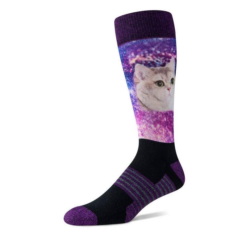 Heavy Breathing Galaxy Cat Socks