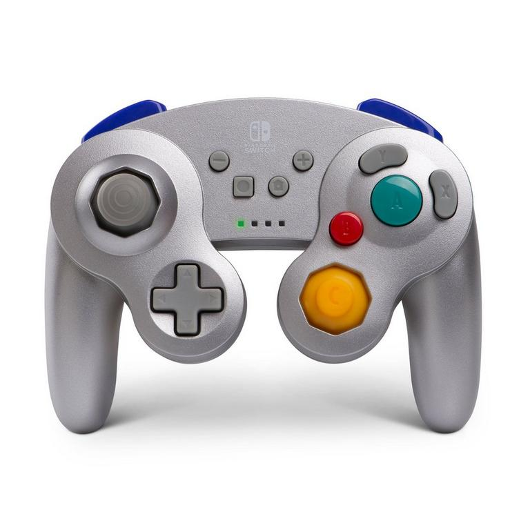 Silver Wireless GameCube Controller for Nintendo Switch