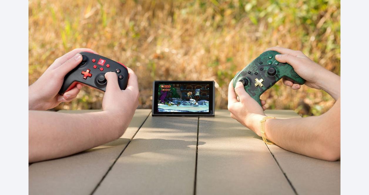 Super Mario Bros. Mario Silhouette Enhanced Wireless Controller for Nintendo Switch