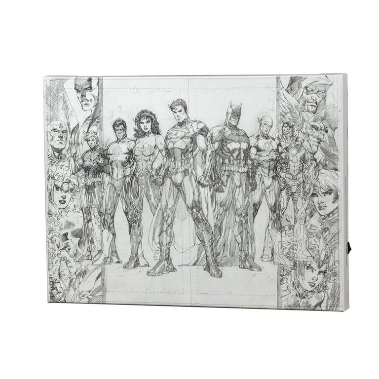 Justice League by Jim Lee Light Up Canvas Wall Art