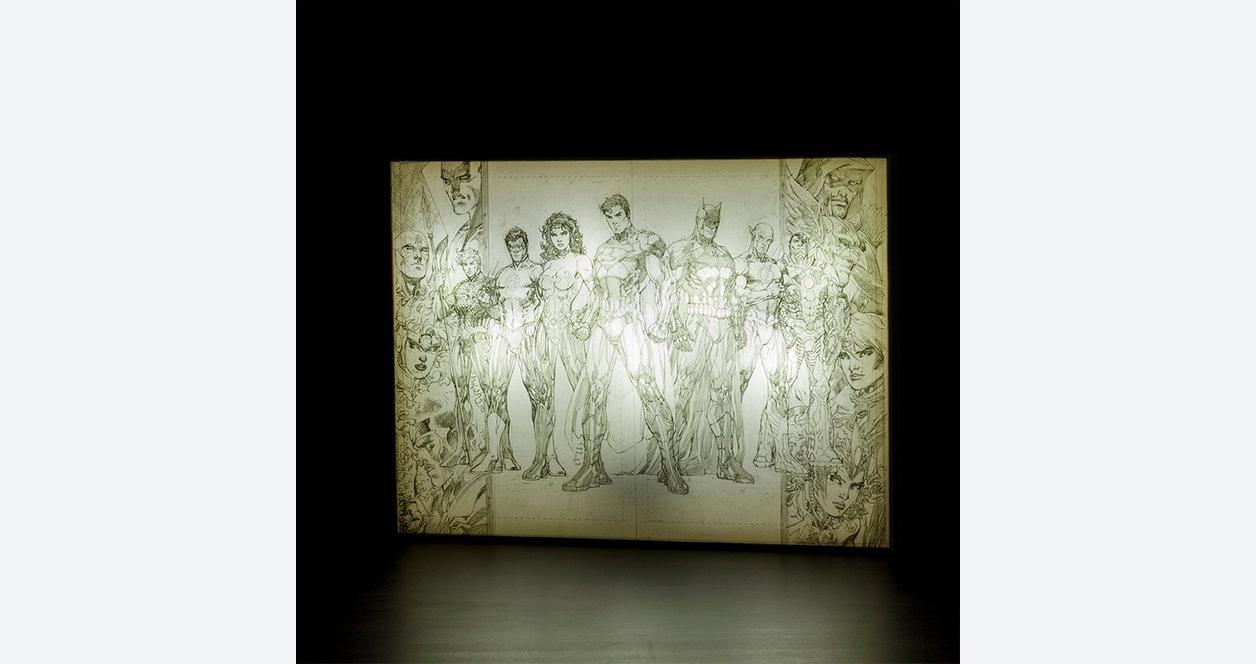 Jim Lee Light Up Canvas Wall Art: Group Sketch