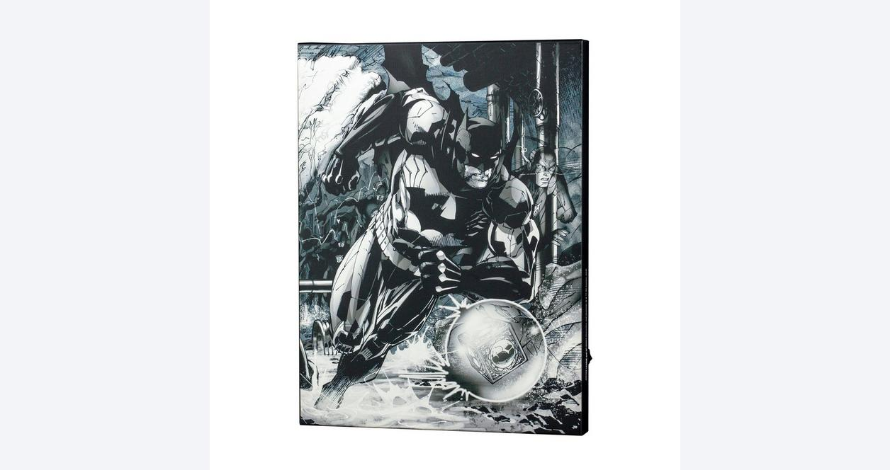 Batman with Flash by Jim Lee Light-Up Canvas Wall Art